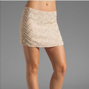 Parker Layla Sequin Pyramid Skirt in Nude
